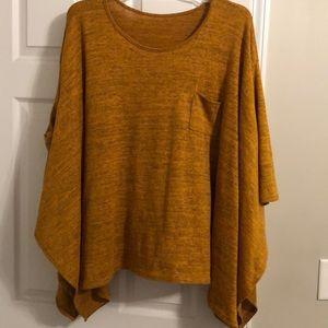 Cute, flowy sweater- Mustard